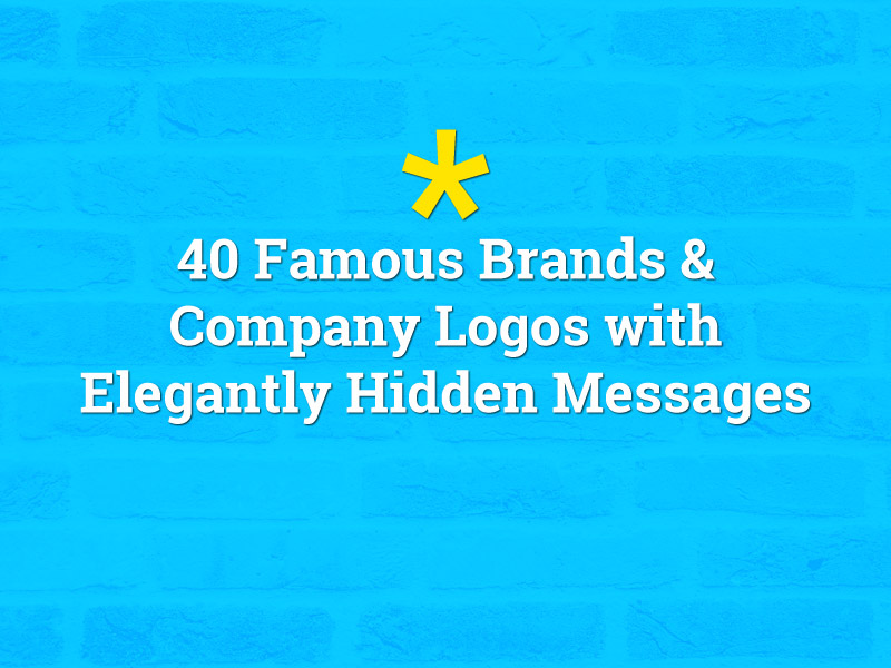 40 Famous Brands and Company Logos With Hidden Messages