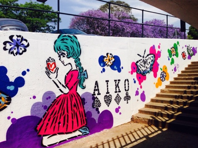 The Art of Lady Aiko - Graffiti, Mural and Street Art
