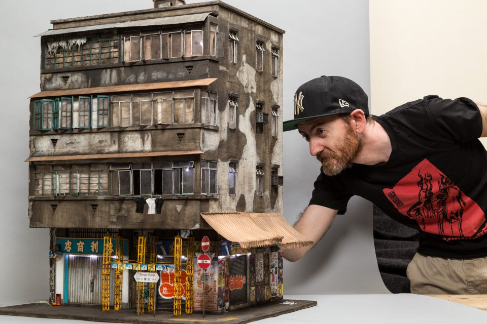 Joshua Smith Creates Miniature Models of Urban Building