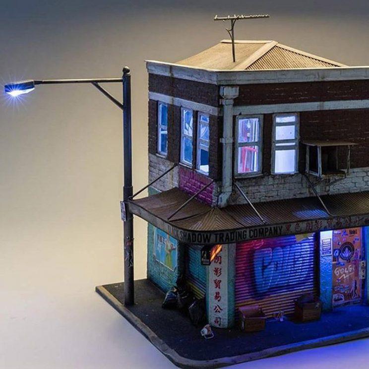Joshua Smith Creates Miniature Models of Urban Building