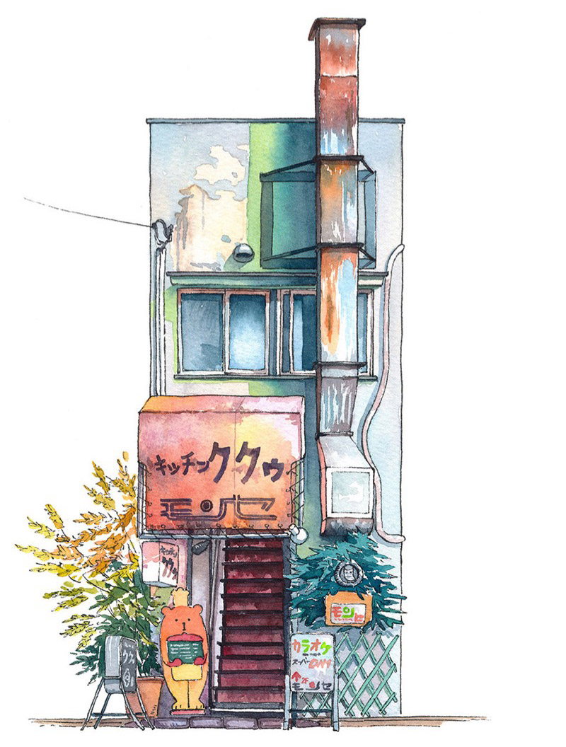 Mateusz Urbanowicz Captures Tokyo Storefronts in Watercolor