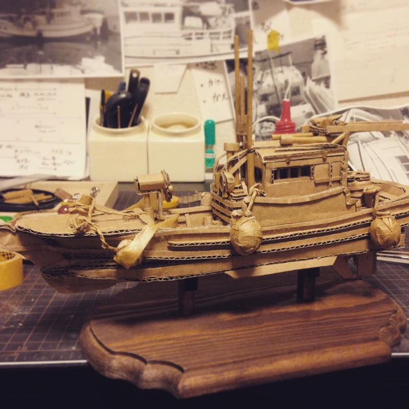 Monami Ohno Turns Cardboard Boxes into Incredibly Detailed Works of Art
