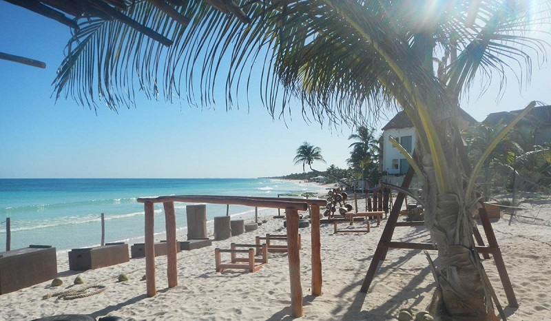 This Tulum Jungle Gym is a Real Life Flintstone Gym