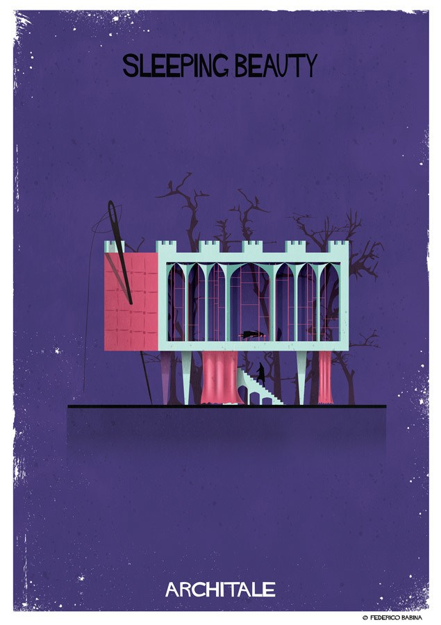 Architale by Federico Babina Brings Fairytale in Architecture Illustrations