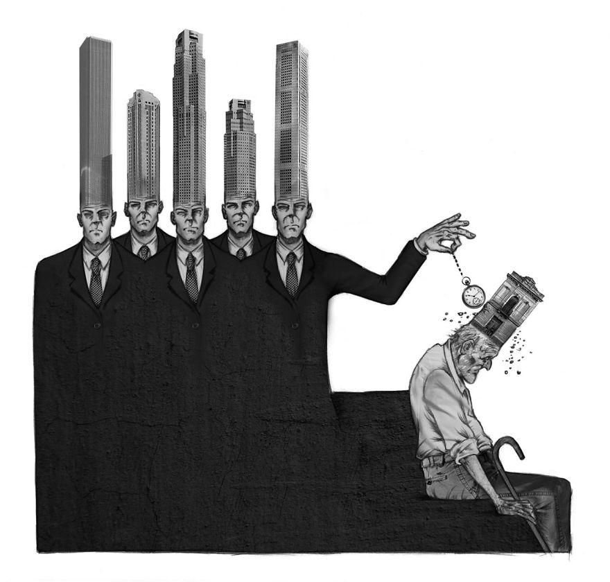 Illustration Modern Society Art
