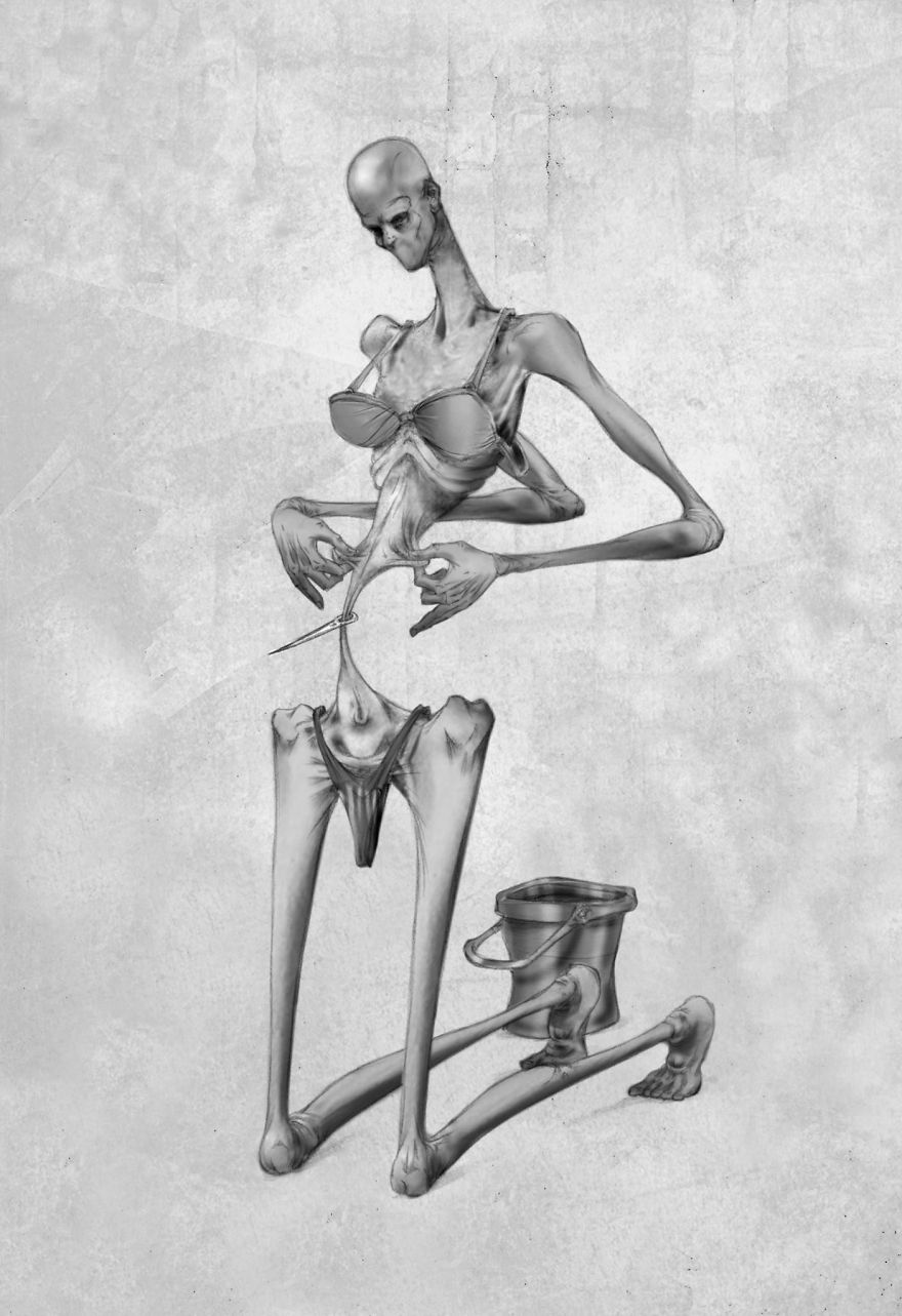 Extremely Thought-Provoking Illustrations to Describe Our Modern Society by Al Margen