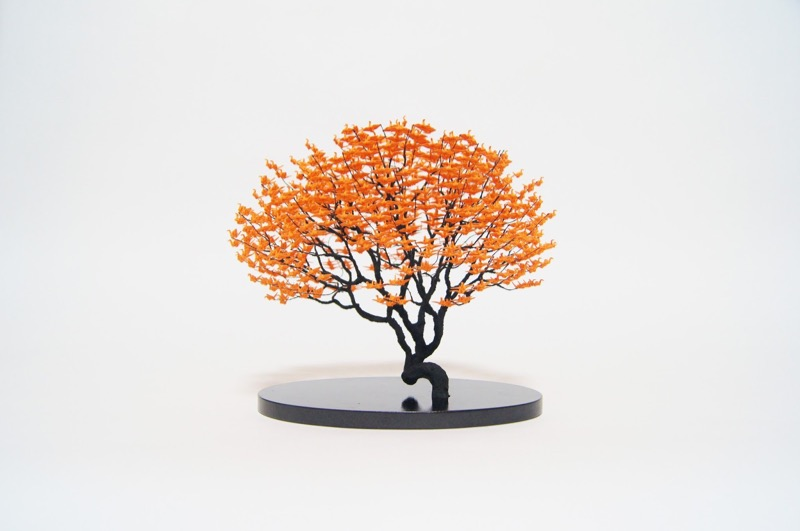 Naoki Onogawa Creates Amazing Bonsai Trees Through Tiny Origami Cranes