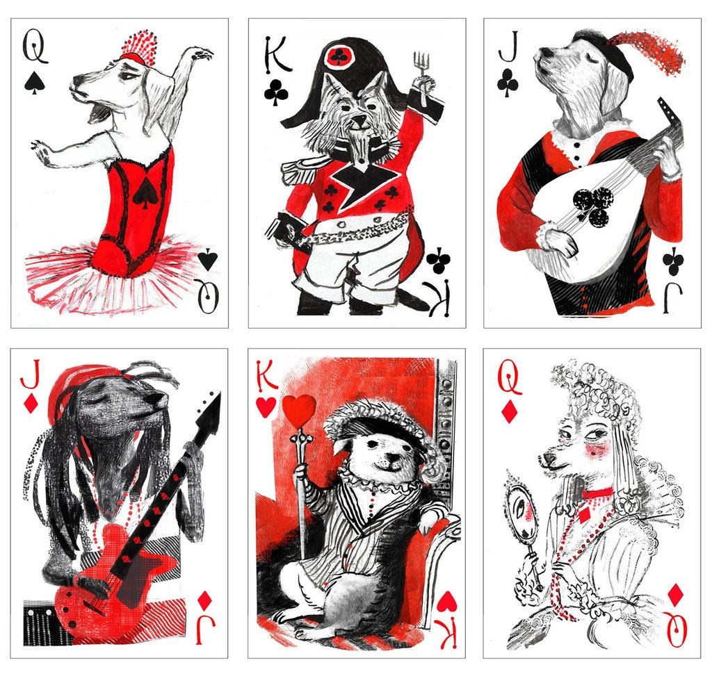 This Pack of Dogs Playing Cards by John Littleboy is Simply Adorable