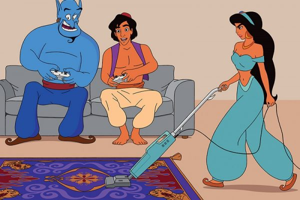 Tom Ward Illustrates Current Social Issues Using Disney Characters