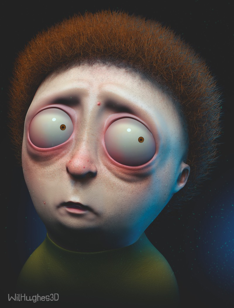 Artist Wil Hughes Creates 3D Realistic Pop Culture Icons And They Will Give You Nightmares