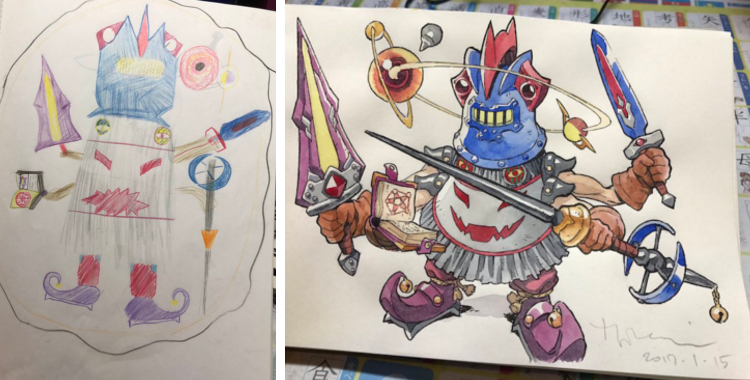 Dad Transforms His Sons Drawings Into Stunning Anime Characters - Dad transforms his sons drawings into amazing anime characters