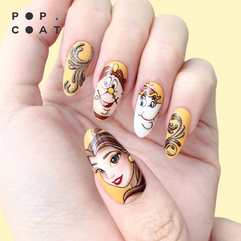 Vio from Popcoat Draws Incredibly Beautiful Nail Art