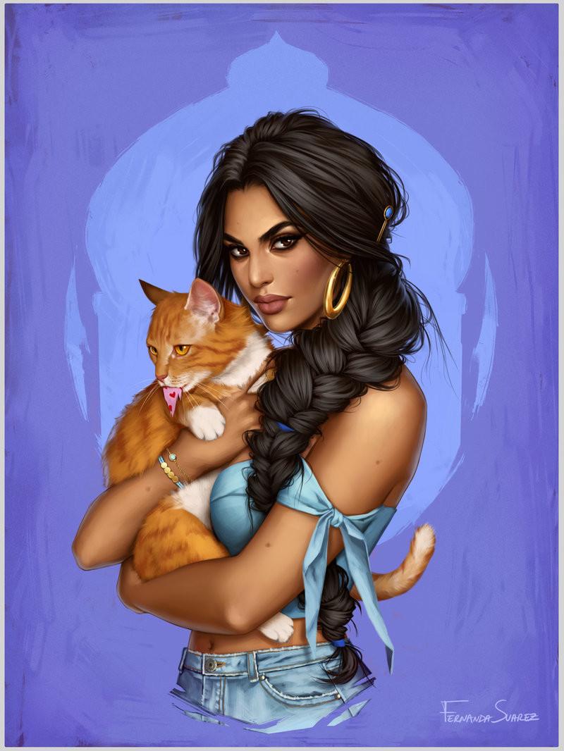 Illustrator Fernanda Suarez Redraws Disney Princesses In The Modern World