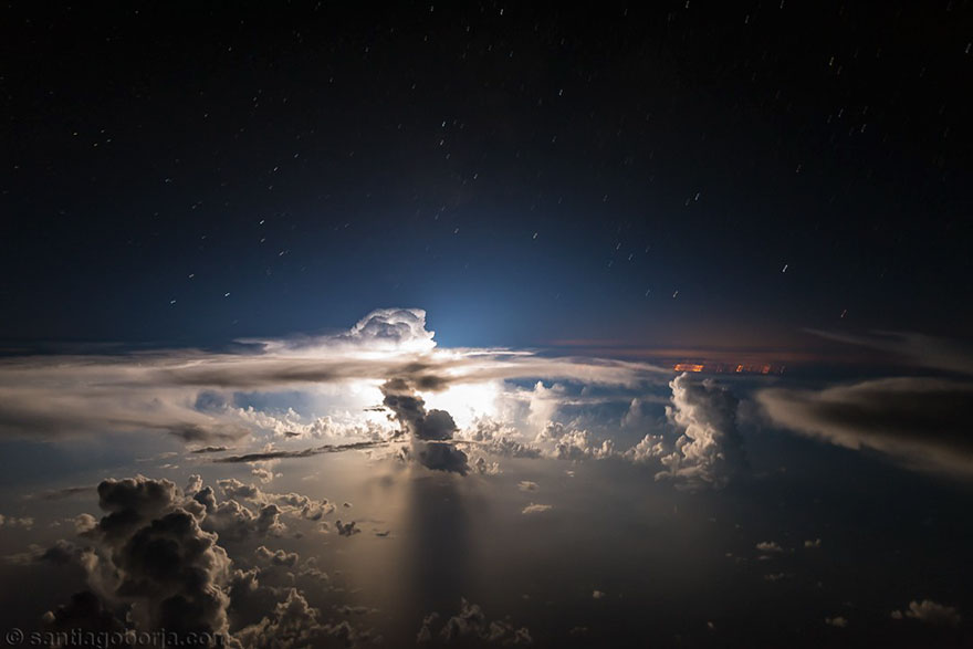 Pilot Santiago Borja Lopez Captures Colossal Pictures Of Clouds and Lightning Storms From His Cockpit